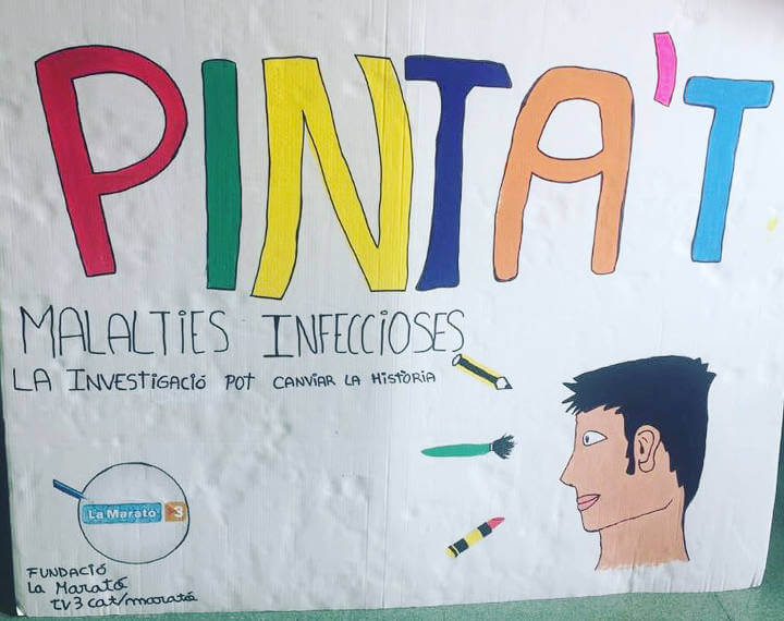 Inst Pla de les Moreres Marato TV3 17 cartell