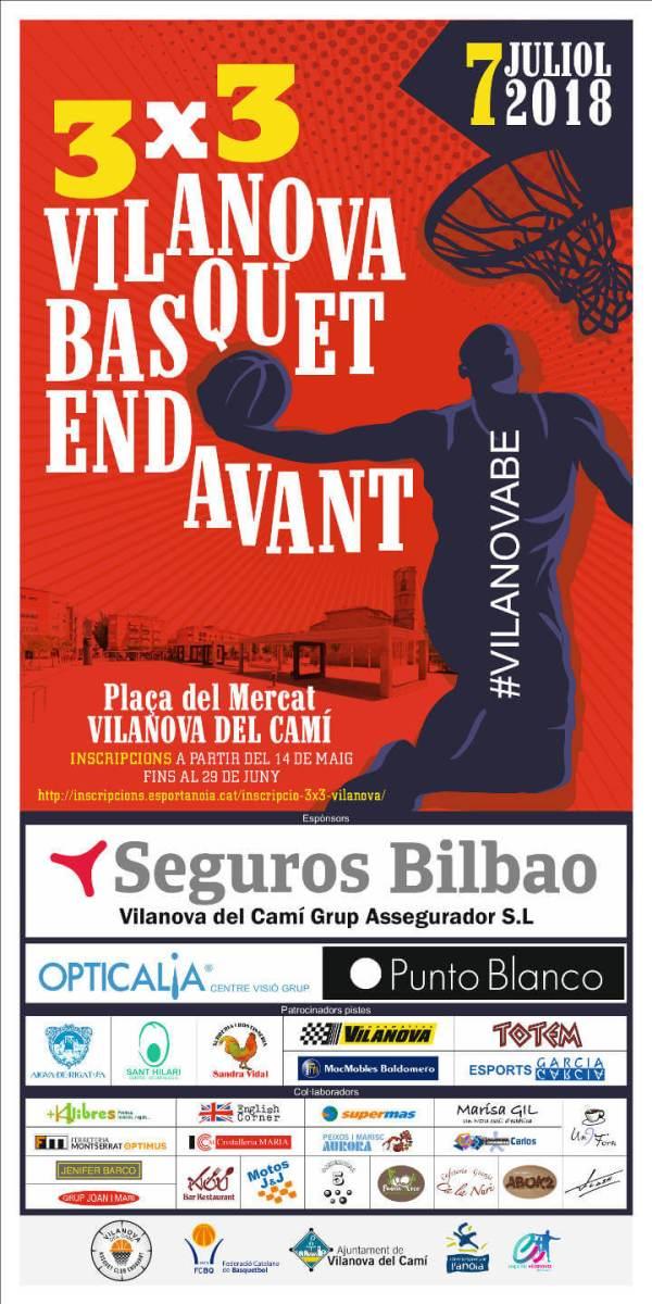 3X3 Basquet Endavant jun18 cartell-v11