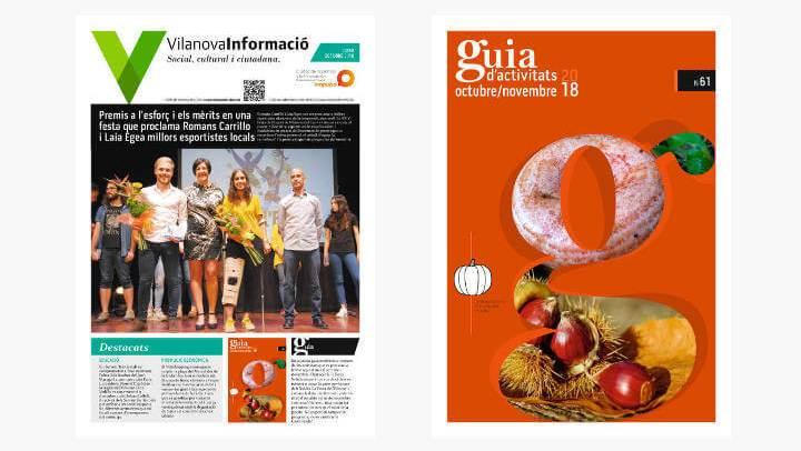El Butlletí i la Guia d'octubre ja s'està distribuint per les llars vilanovines | PUBLICACIONS