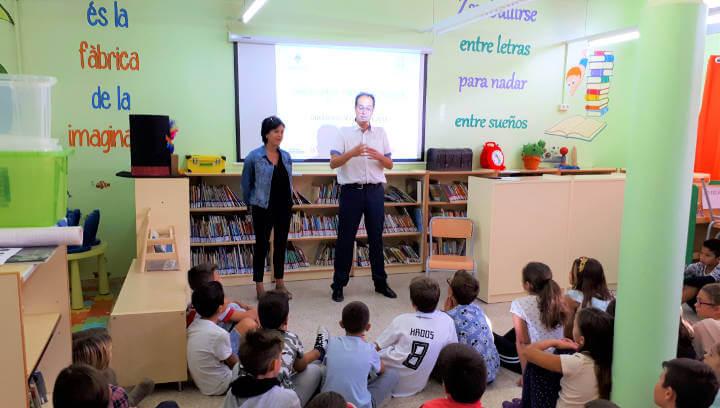 Presentació de Cultura Emprenedora a l'Escola Joan Maragall l'octubre de 2018