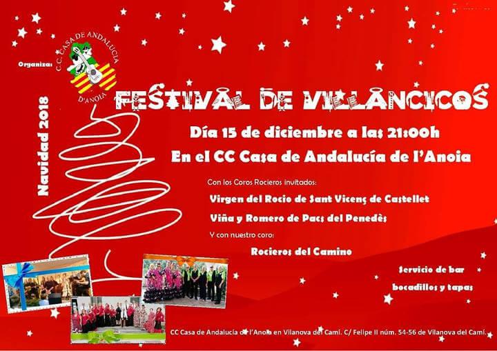 Casa Andalucia Festival villancicos 2018-cartell