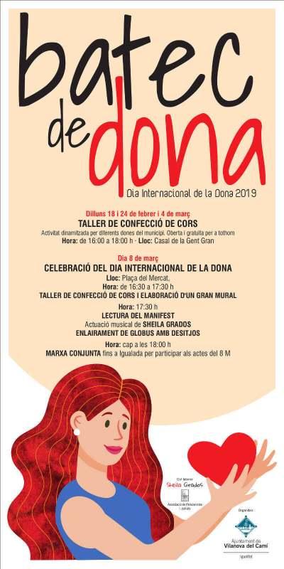 Cartel 8M 2019 Vilanova del cami