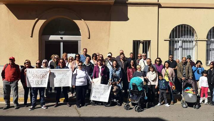 Manifestació pediatria digna a l'Anoia