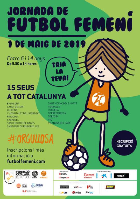 Cartell Jornada Futbol Femeni 2019