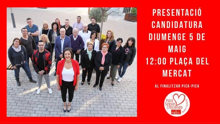 Presentacio PSC Eleccions Muinicipals 2019