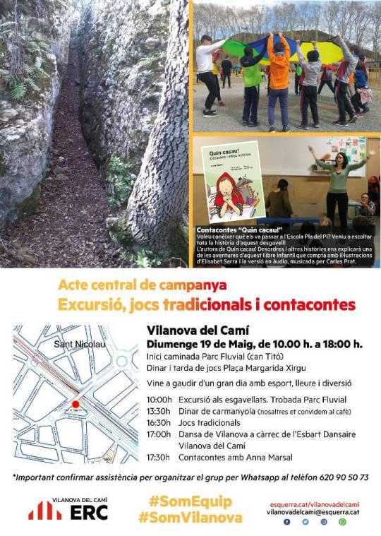 ERC acte central Esgavellats cartell