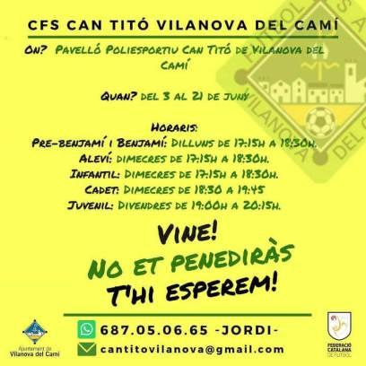 Futbol sala entrenaments gratis juny 2