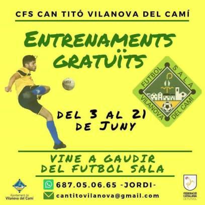 Futbol sala entrenaments gratis juny