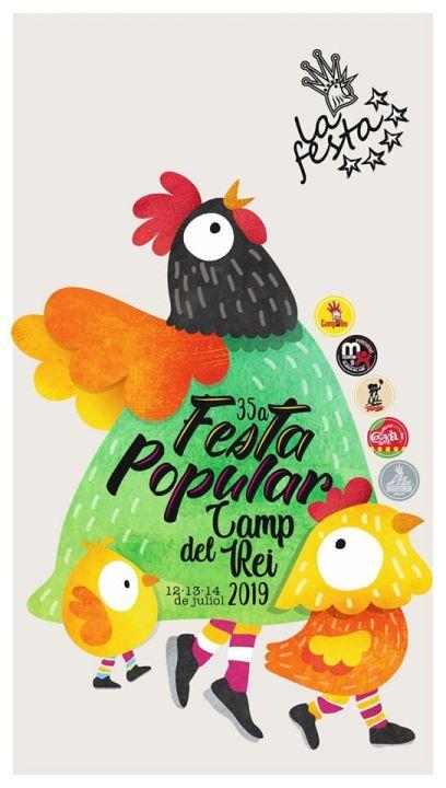 Festa Popular Camp del Rei 2019 cartell