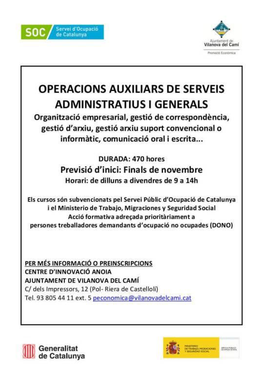 Curs Operacions Auxiliars 2019