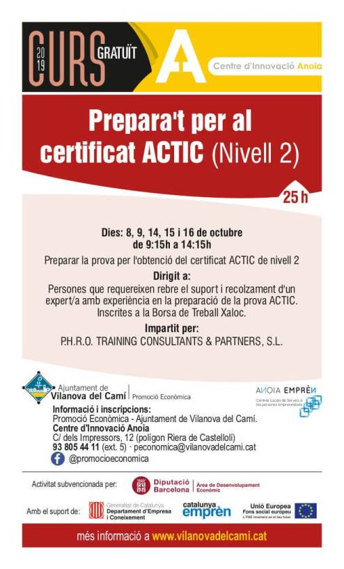 Curs-Prepara't pel certificat ACTIC
