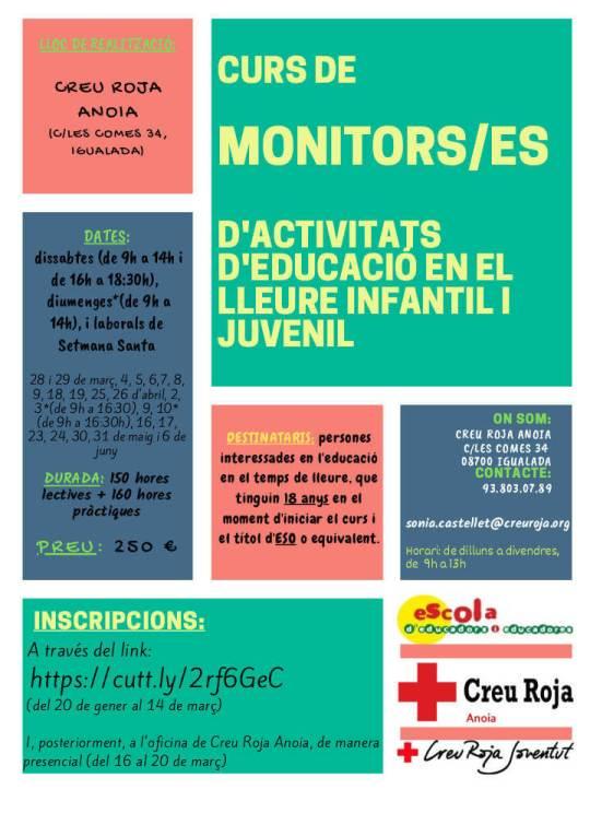 curs monitors lleure Creu Roja