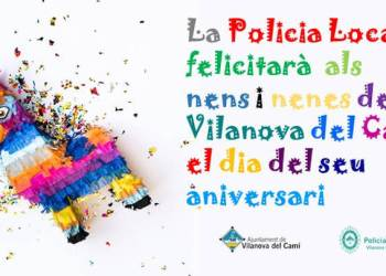 Aniversari infants i policia-anunci