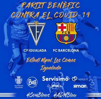 Partit benefic FC Barcelona Igualada cartell