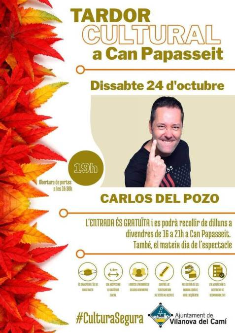 Carlos del Pozo monologuista cartell