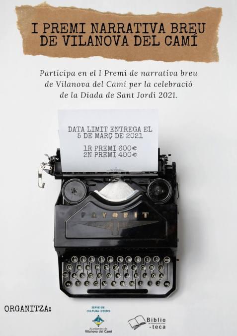 Cartell I Premi Narrativa breu