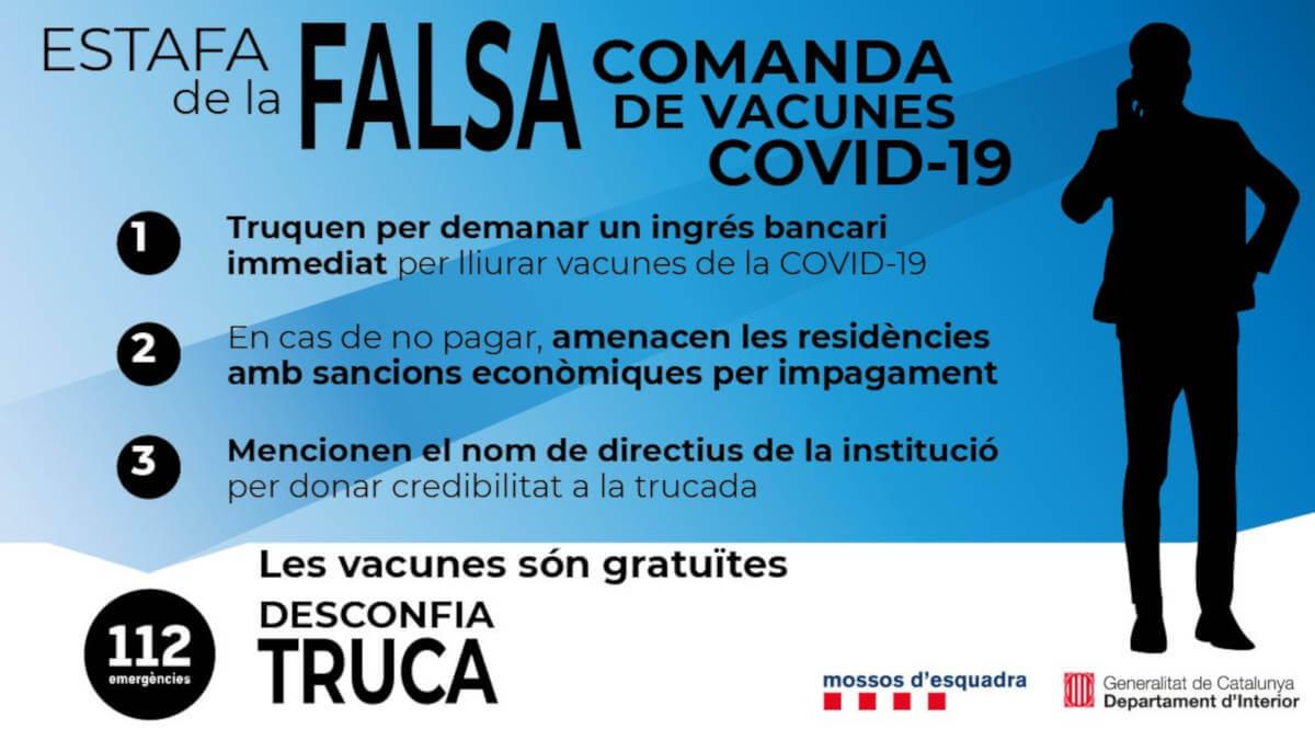 estafa vaciunes Covid-19