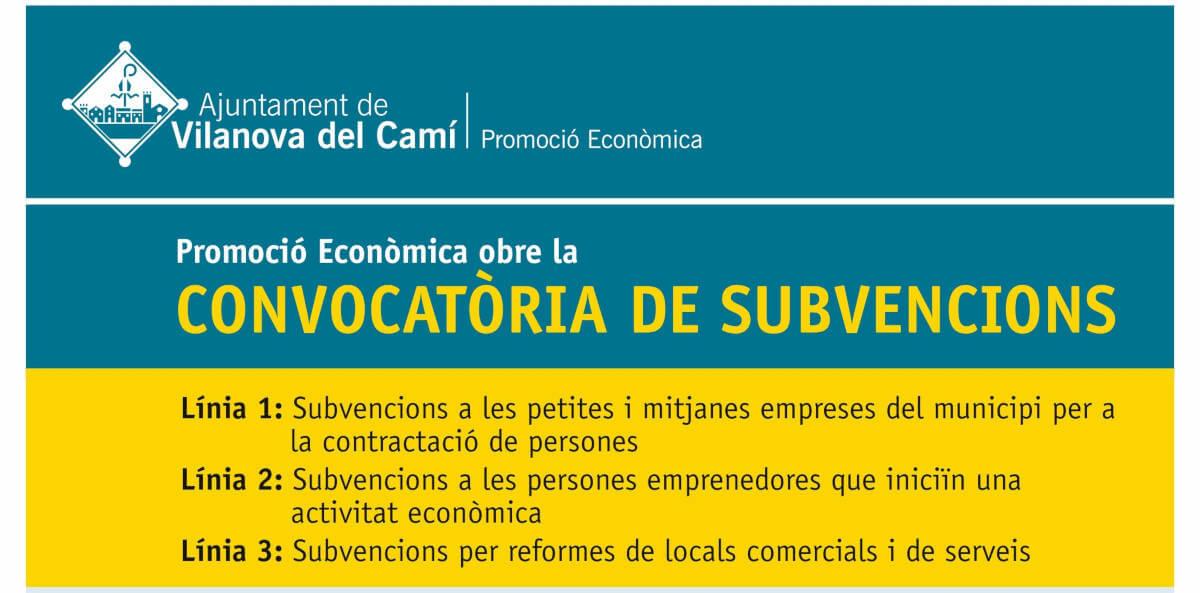 Subvencions Promocio Economica 2021