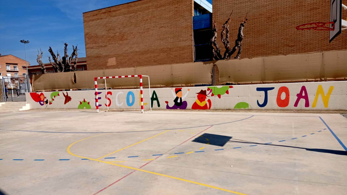 Mural pati Joan Maragall de l'artista Elisabet Serra (4)