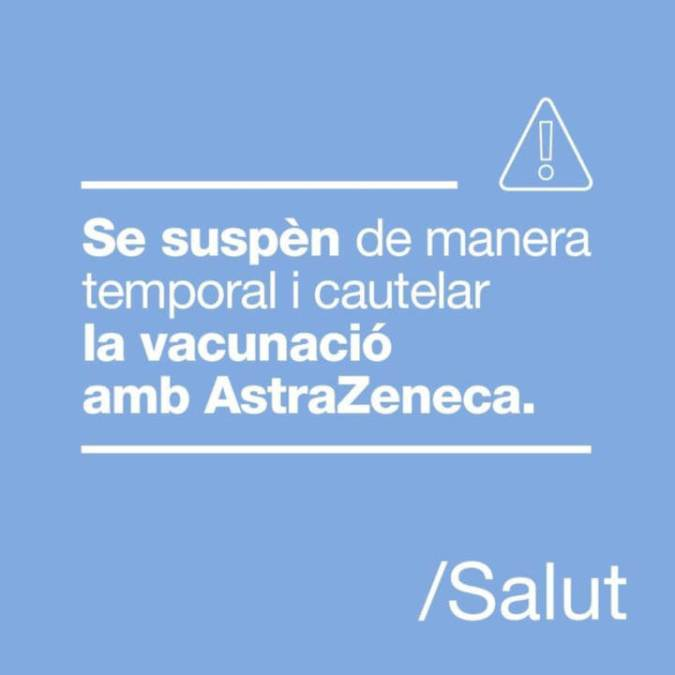 Suspensio temporal vacunacio astrazeneca - Imatge ICS Catalunya Central
