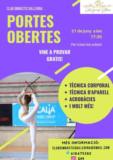 Cartell de la jornada de portes obertes del CE Ballerina
