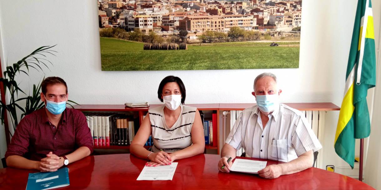 Signatura conveni 2021 Poligons dels Plans