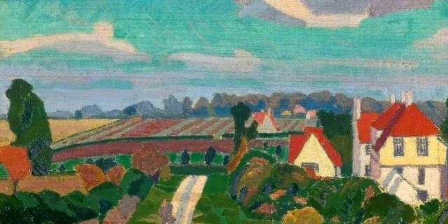 painting of Letchworth by Spencer Gore
