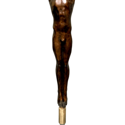 Cross arm diver bronze