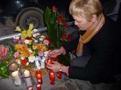 Imagen homenaje explosión gas fondo
