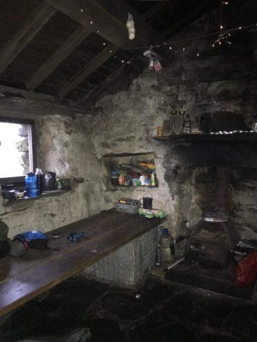 Bothy camping at Warnscale Hut