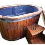 Oval Vildmarksbad i glasfiber for 2 personer