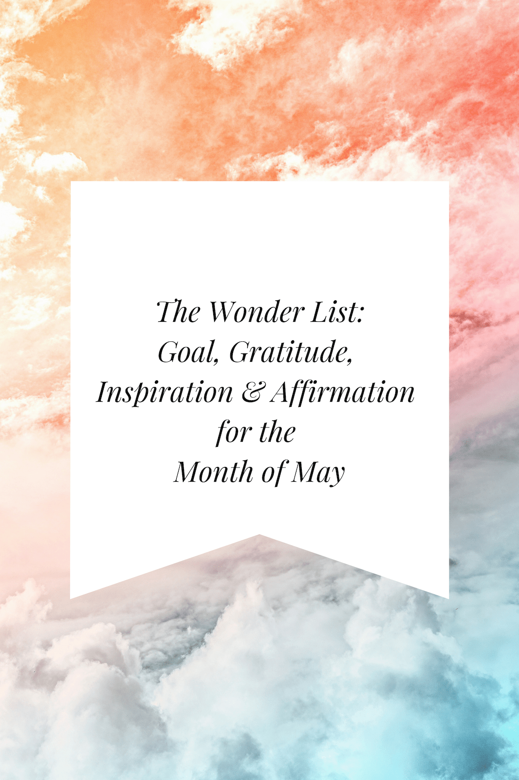 The Wonder List May Image