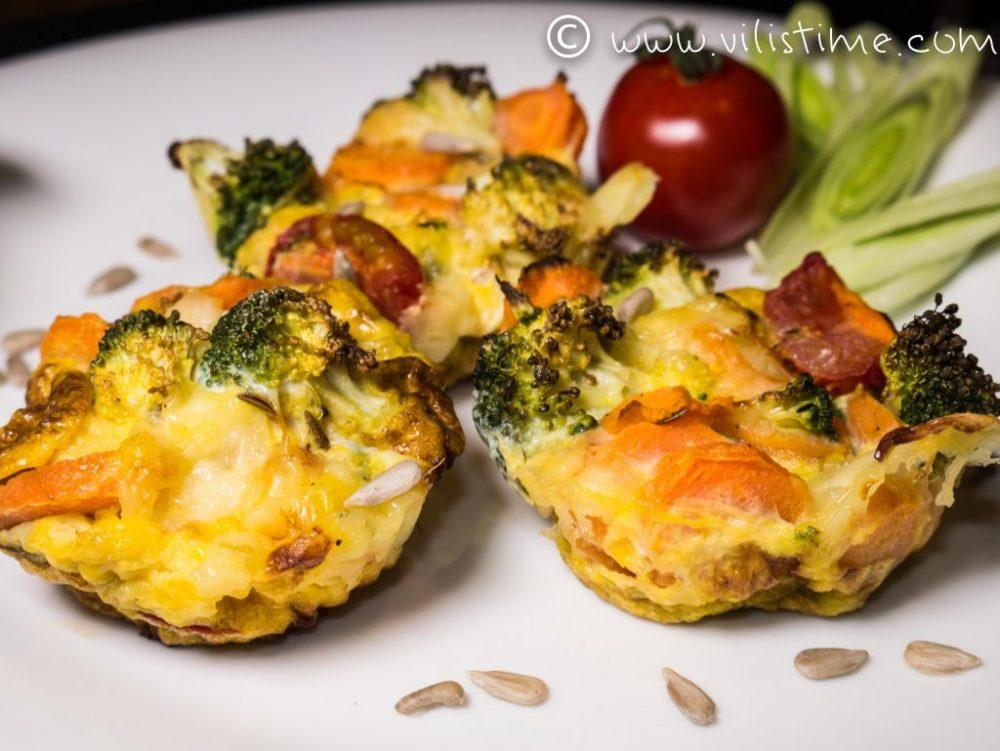 Зеленчукови мини фритати с куркума