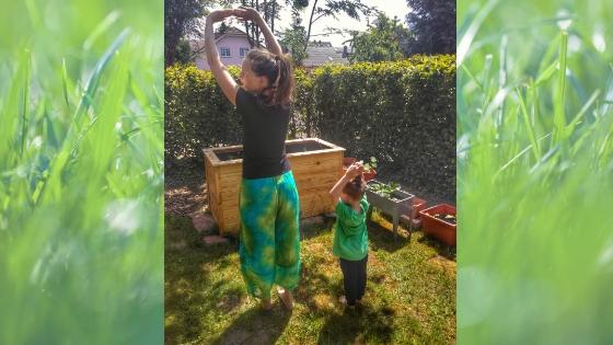 Yoga6 - Yoga für Kinder- Die Geschichte vom Mond zum Nachmachen