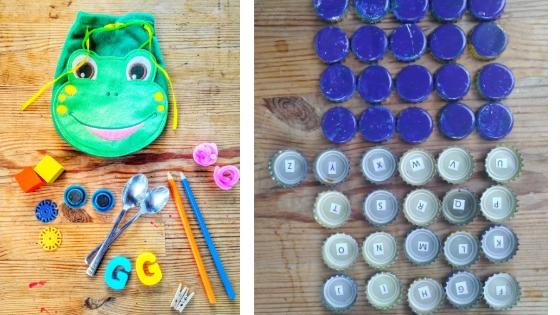 Beutel und Deckelmemory - Memory der Sinne - 12 Montessori Upcycling Varianten