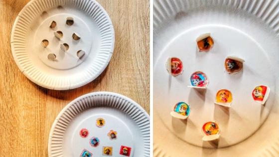Pappteller Memory - Memory der Sinne - 12 Montessori Upcycling Varianten