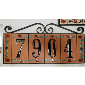 hand panted tiles house numbers
