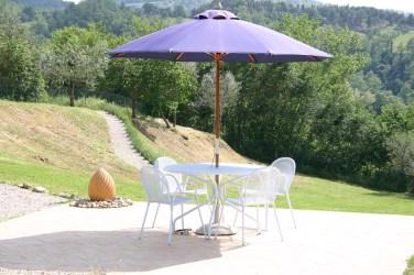 Dining area at villa in Umbria