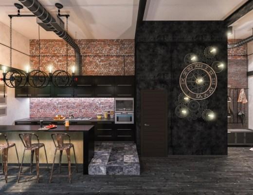 dekoracje w stylu loft