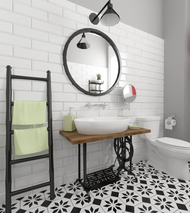 Designerska łazienka W Stylu Shabby Chic Blog Villadecor