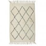 bawełniany jasny dywan