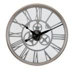 niklowany zegar zmechanizmem