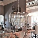 luksusowy kryształowy żyrandol glamour