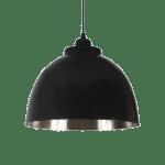 czarna skandynawska lampa wisząca