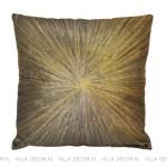 złota czarna poduszka art deco