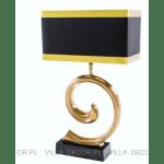 czarno złota lampa stołowa art deco