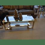 luksusowa ława złoty nikiel