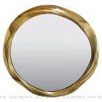 okrągłe lustro wzłotej ramie