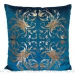 modna luksusowa turkusowa poduszka