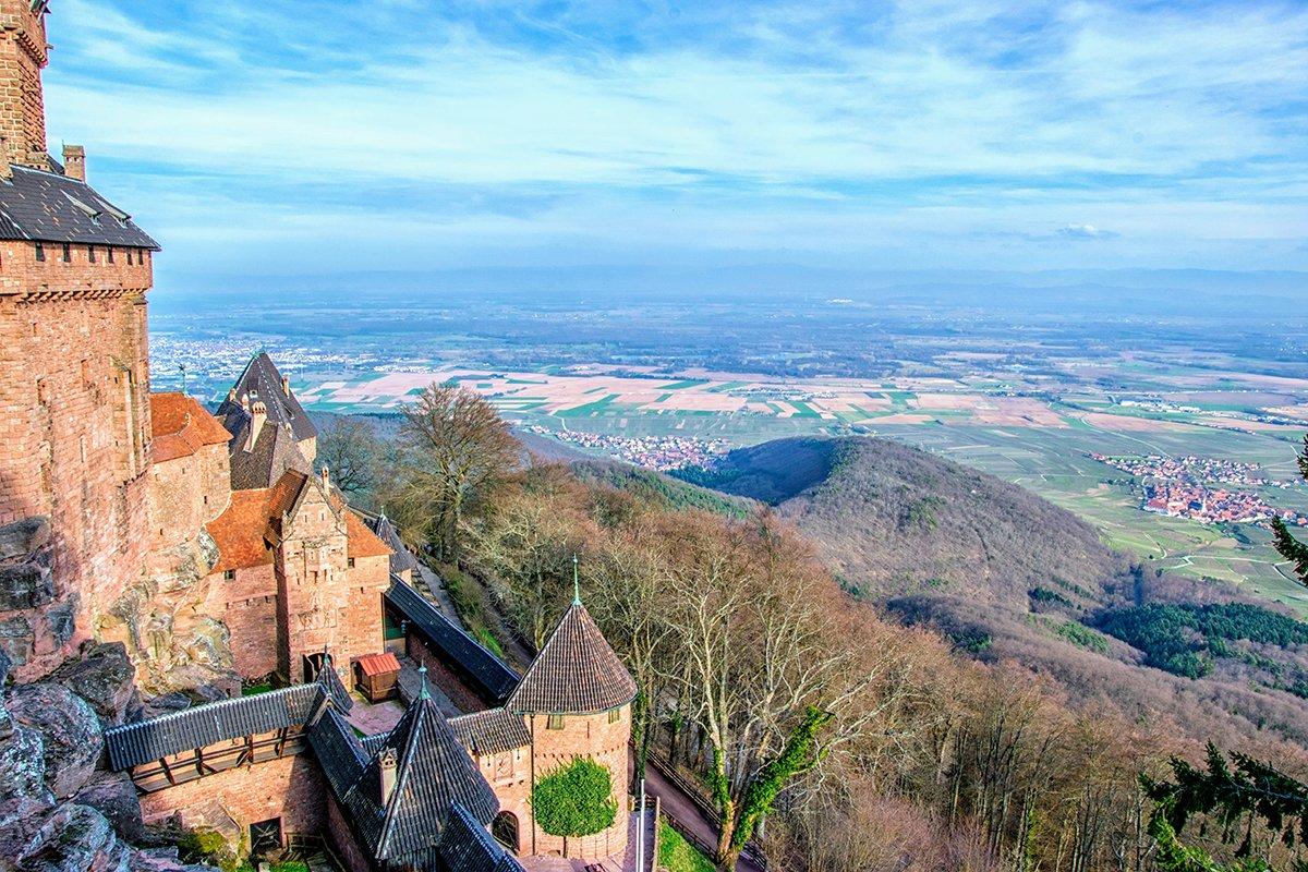 Le château avec une belle vue